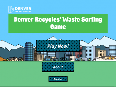 Denver Recycles Waste Sorting Game