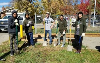Green Team at South High School Workday